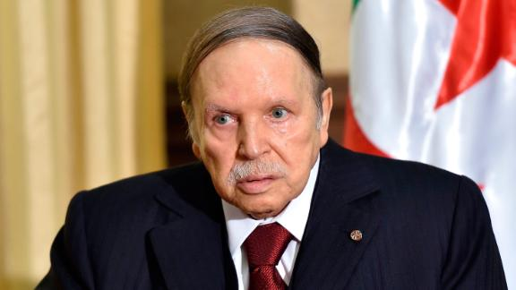Algerian President Abdelaziz Bouteflika in 2016. He has rarely been seen in public since suffering a stroke in 2013.