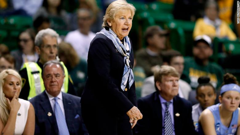 North Carolina head coach Sylvia Hatchell at the NCAA Tournament last month in Waco, Texas.
