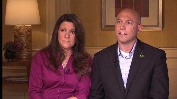 Jeremy Richman and his wife spoke to Anderson Cooper in 2013. Richman encouraged people to talk openly about brain health in the same way we talk openly about body health.