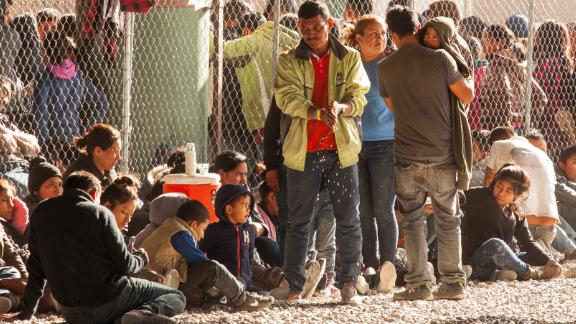 """CBP described the area under the bridge as a """"transitional shelter."""""""