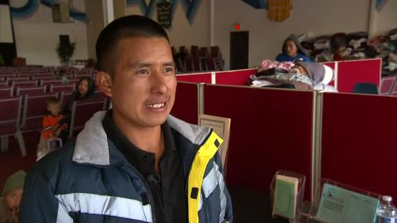 Guatemalan immigrant Bartolo Tadeo Gómez, 25, says US authorities held him and his 7-year-old son for four nights under a border bridge in El Paso.