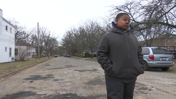 Monte Scott fixed the potholes by filling them with dirt