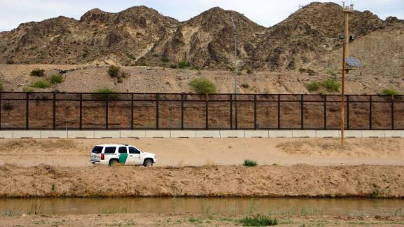 A US Border Patrol is seen from Mexico while patrolling along the border line between the cities of El Paso, Texas, in the United States, and Ciudad Juarez, Chihuahua state, Mexico on April 7, 2018.  The US states of Texas and Arizona on Friday announced plans to send National Guard troops to the southern border with Mexico after President Donald Trump ordered a thousands-strong deployment to combat drug trafficking and illegal immigration. / AFP PHOTO / HERIKA MARTINEZ        (Photo credit should read HERIKA MARTINEZ/AFP/Getty Images)