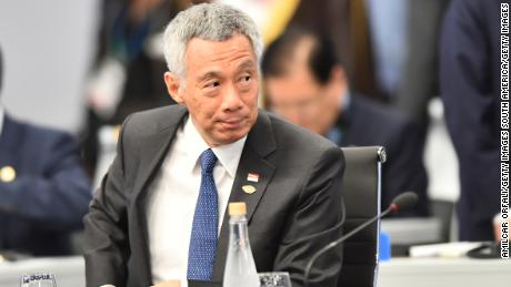 Singapore Prime Minister Lee Hsien Loong during the plenary session on the opening day of the Argentina G20 Leaders & # 39; Summit 2018 on Costa Salguero on November 30, 2018 in Buenos Aires, Argentina.