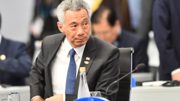 Singapore Prime Minister Lee Hsien Loong during the plenary session on the opening day of Argentina G20 Leaders' Summit 2018 at Costa Salguero on November 30, 2018 in Buenos Aires, Argentina.