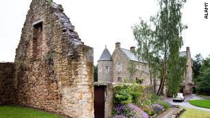 Ferniehirst Castle, home of Dame Janet Scott.
