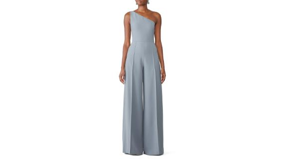 Christian Siriano Blue One Shoulder Jumpsuit (prices vary based on subscription; renttherunway.com)