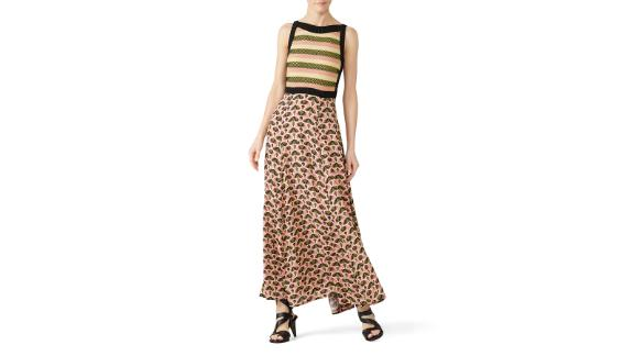 Aldomartins Abstract Printed Midi Dress (prices vary based on subscription; renttherunway.com)