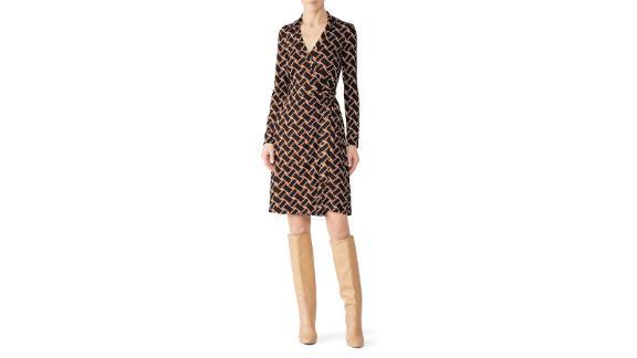 Diane von Furstenberg New Jeanne Wrap Dress (prices vary based on subscription; renttherunway.com)