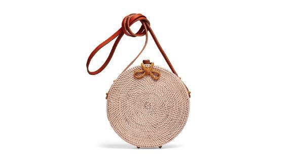 Cleobella Handbags Williamsburg Straw Circle Bag (prices vary based on subscription; renttherunway.com)