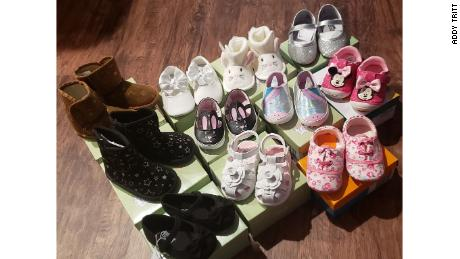 Most of the shoes she bought were for women and children.