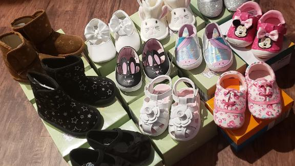 The majority of the shoes she bought were for women and children.