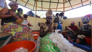 Women working at Handspun Hope, an NGO that employs more than 100 women in the wool industry in Rwanda