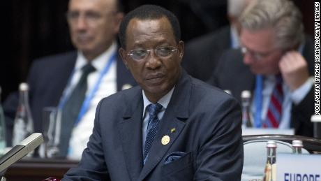 Chad's President Idriss Deby at the G20 Summit in 2016.