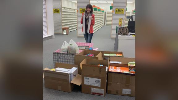 Addy Tritt bought the last 204 pairs of shoes from a local Payless so she could donate them to flood victims.