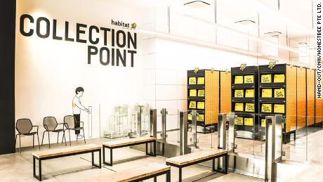 Habitat by Honestbee's robotic collection point.
