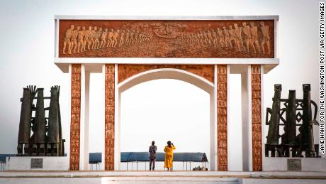 The Point of No Return in Ouidah, Benin marks the place where 3 million slaves were shipped to the US.