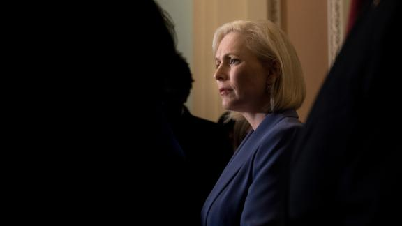 US Sen. Kirsten Gillibrand attends a news conference in Washington in September 2018. She formally announced her presidential ambitions in March 2019, a couple months after she said she was forming an exploratory committee.