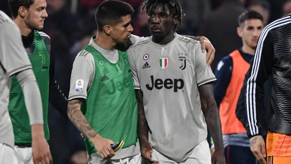 Cancelo comforts Kean at the end the match
