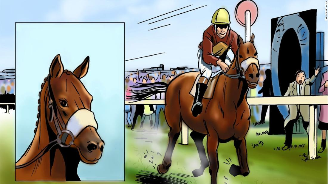 No equine superhero comic book would be complete without Red Rum, the only horse to have won the Grand National at Aintree Racecourse in Liverpool, England, three times. Red Rum won the National 1973, 1974 and 1977, and finished in second place in 1975 and 1976. Trained by Ginger McCain, he died in 1995 at the age of 30.