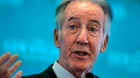 FILE - In this Nov. 27, 2018 file photo, Rep. Richard Neal, D-Mass., then incoming chairman of the House Ways and Means Committee, addresses an audience during a gathering of business leaders in Boston. The Democrats tried and failed several times to obtain Trump