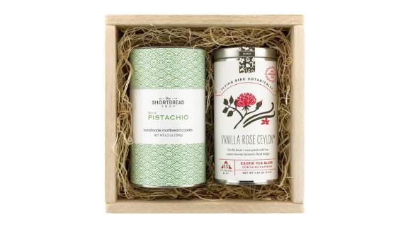 """<strong>Pistachio Shortbread & Flying Bird Botanicals Tea Gift Set ($45; </strong><a href=""""https://click.linksynergy.com/deeplink?id=Fr/49/7rhGg&mid=1237&u1=0403mothersdaygiftsnordstrom&murl=https%3A%2F%2Fshop.nordstrom.com%2Fs%2Fthe-shortbread-shop-pistachio-shortbread-flying-bird-botanicals-ceylon-tea-blend-gift-set%2F5153080"""" target=""""_blank"""" target=""""_blank""""><strong>nordstrom.com</strong></a><strong>)</strong><br />"""