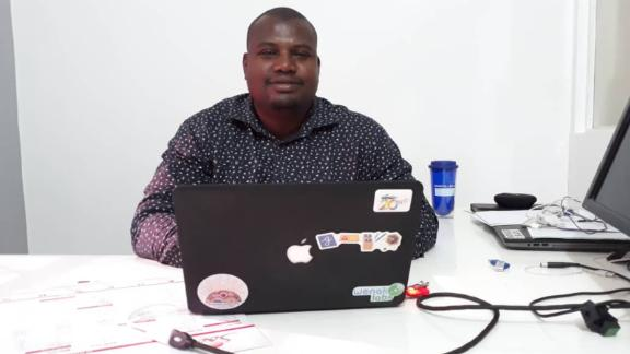 Salim Azim Assani, 33, runs WenakLabs, a digital co-working space in Chad's capital N'Djamena.