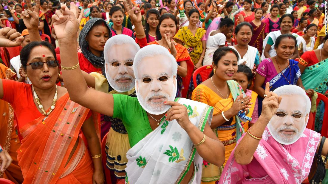 Exit polls suggest a win for Narendra Modi in world's biggest elections - CNN image
