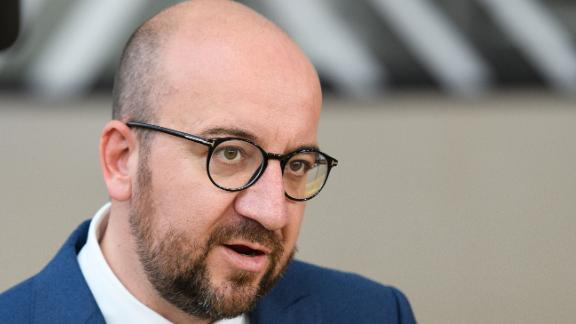 Belgian Prime Minister Charles Michel arrives at the EU Council headquarters ahead of a European Council meeting on June 22, 2017 in Brussels, Belgium. In the first European summit since she lost her Commons majority in the general election, British Prime Minister Theresa May will outline her plans for the issue of expats