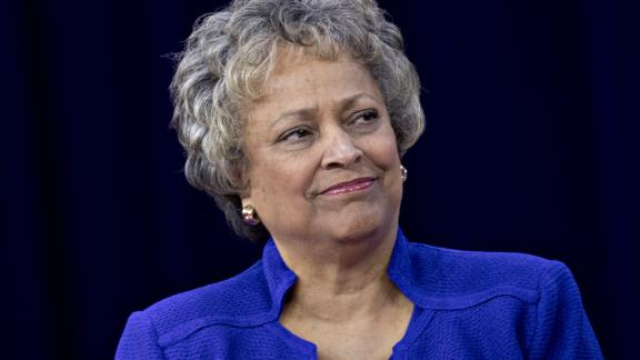 Kay Coles James, president of the Heritage Foundation, listens during a discussion at the Conservative Political Action Conference (CPAC) in National Harbor, Maryland, U.S., on Thursday, Feb. 22, 2018. The list of speakers at CPAC that opens today includes two European nativists who will address the gathering between panels and events on the dangers of immigration, Sharia law and lawless government agencies. Photographer: Andrew Harrer/Bloomberg via Getty Images