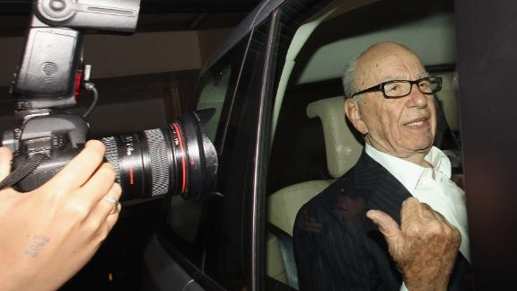 LONDON, ENGLAND - JULY 12:  Rupert Murdoch, the chief executive officer of News Corp., is driven from his apartment on July 12, 2011 in London, England. Allegations emerged yesterday that private investigators working for The Sun and The Sunday Times newspapers, owned by Mr Murdoch's company, targeted former Prime Minister Gordon Brown to obtain bank details and his son's medical records.  (Photo by Oli Scarff/Getty Images)