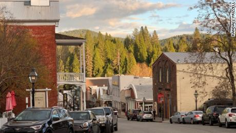 Nevada City's historic downtown.