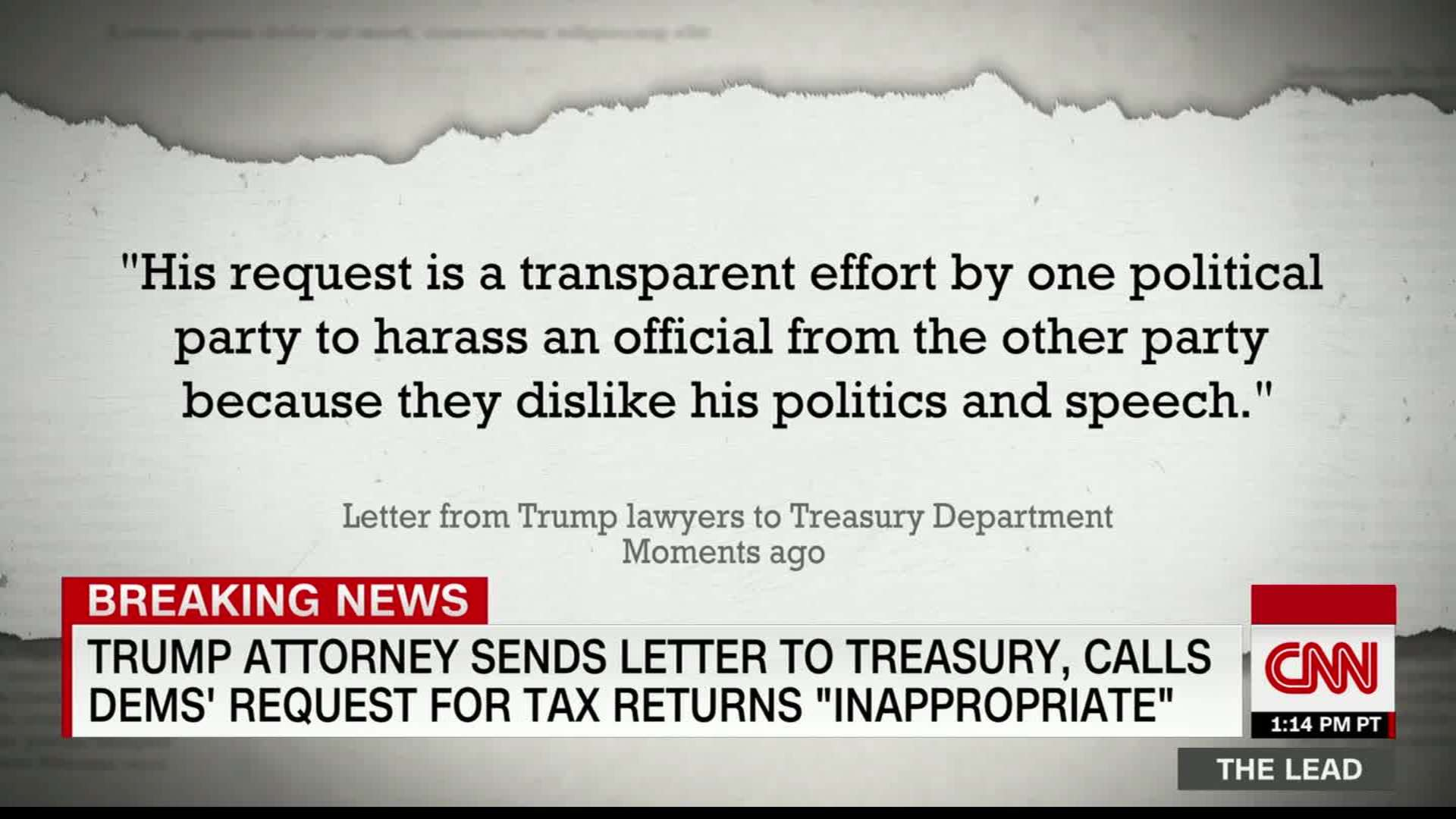 Trump S Lawyers Call Request For Tax Returns Inappropriate
