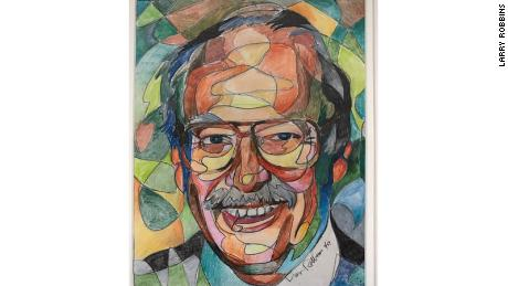 A portrait of paint-by-numbers creator Dan Robbins, who died on April 1 at the age of 93.