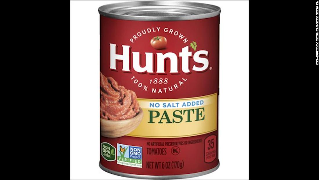 Some cans of Hunt's tomato paste recalled over mold concerns
