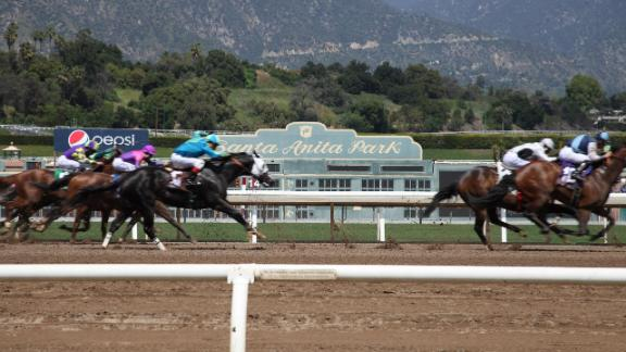 CNN is covering Derby Day at embattled race track Santa Anita Park - where 23 horses have died on the track since December.