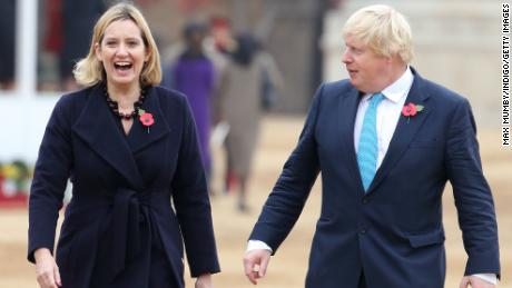 British papers have reported that Amber Rudd, left, and Boris Johnson might unite on a joint ticket.