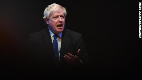 Johnson speaks at a fringe meeting during the Conservative Party Conference on in October 2018.
