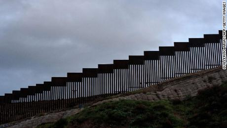 Picture of a section of the US-Mexico border fence seen from Tijuana, Baja California State, Mexico, on February 5, 2019.