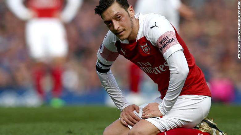 Mesut Ozil was named in Arsenal's starting XI to face Manchester City on Sunday.