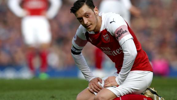 Mesut Ozil was named in Arsenal