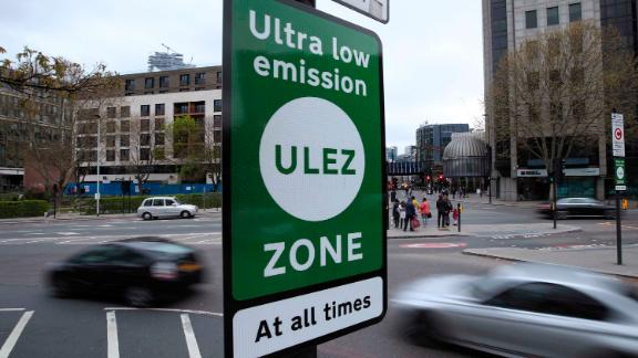 Ultra Low Emission Zone. A view of a information sign at Tower Hill in central London, for the introduction on Monday of the Ultra Low Emission Zone, as London has introduced one of the world???s toughest vehicle emissions standards. Picture date: Saturday April 6, 2019. Drivers of older, more polluting cars face paying a new ??12.50 fee to enter the centre of the capital after the ultra-low emission zone (Ulez) came into force on Monday. Mayor of London Sadiq Khan said the scheme is being brought in because thousands of Londoners are dying early every year as a result of toxic air, with an increased risk of cancer, asthma, dementia and stroke. See PA story TRANSPORT ULEZ. Photo credit should read: Yui Mok/PA Wire URN:42216214 (Press Association via AP Images)