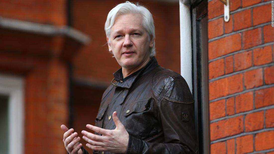 WikiLeaks founder Julian Assange speaks to the media from the balcony of the Ecuadorian Embassy in London in May 2017. Assange, founder of the website WikiLeaks, has been a key figure in major leaks of classified government documents, cables and videos.