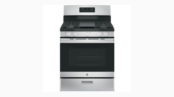 """<strong>GE 30-Inch 5.0-Cubic Foot Gas Range ($548.10, originally $799; </strong><a href=""""https://www.homedepot.com/p/GE-30-in-5-0-cu-ft-Gas-Range-in-Stainless-Steel-JGBS66REKSS/206943135"""" target=""""_blank"""" target=""""_blank""""><strong>homedepot.com</strong></a><strong>)</strong>"""