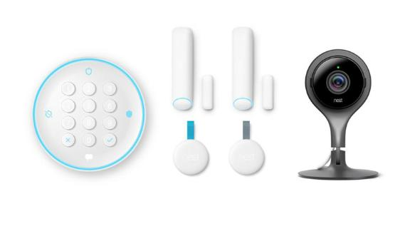 """<strong>Nest Secure Alarm System Starter Pack ($398, originally $498; </strong><a href=""""https://www.homedepot.com/p/Nest-Secure-Alarm-System-Starter-Pack-with-Cam-Indoor-1080p-Security-Camera-Home-Depot-Exclusive-BEC1400-US/305083959"""" target=""""_blank"""" target=""""_blank""""><strong>homedepot.com</strong></a><strong>)</strong>"""