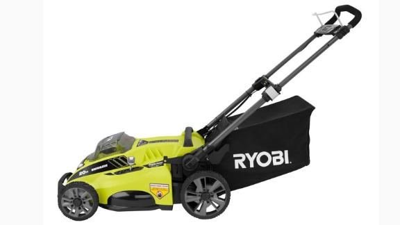 """<strong>Ryobi 20-Inch 40-Volt Lithium-Ion Cordless Push Lawn Mower ($249, originally $299; </strong><a href=""""https://www.homedepot.com/p/RYOBI-20-in-40-Volt-Brushless-Lithium-Ion-Cordless-Battery-Walk-Behind-Push-Lawn-Mower-5-0-Ah-Battery-Charger-Included-RY40180-Y/304597920"""" target=""""_blank"""" target=""""_blank""""><strong>homedepot.com</strong></a><strong>)</strong>"""