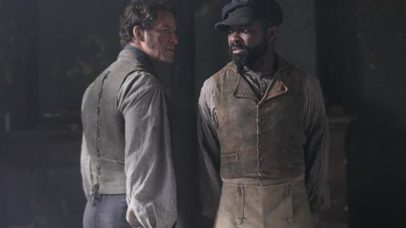 Dominic West, David Oyelowo in 'Les Miserables' (Laurence Cendrowicz/BBC)