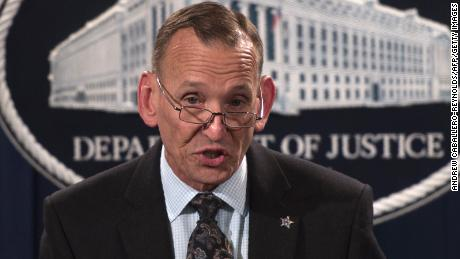 Director of the US Secret Service Randolph Alles speaks during a press conference at the Department of Justice in Washington, DC on October 26, 2018 following the arrest of bombing suspect Cesar Sayoc in Florida. - The suspect has been charged with five federal crimes in connection with more than a dozen suspicious packages sent in a US mail bombing spree, Sessions said. (Photo by ANDREW CABALLERO-REYNOLDS / AFP) (Photo credit should read ANDREW CABALLERO-REYNOLDS/AFP/Getty Images)
