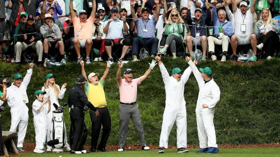 The Masters is forward looking but rooted in tradition, such as the pre-tournament Par-3 Contest, in which friends and family members caddie for the players and hit the occasional shot. Jack Nicklaus