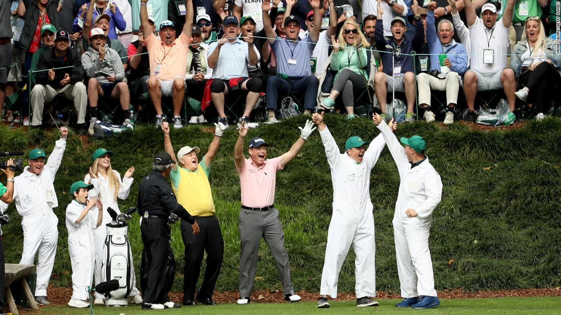 The Masters is forward looking but rooted in tradition, such as the pre-tournament Par-3 Contest, in which friends and family members caddie for the players and hit the occasional shot. Jack Nicklaus' grandson Gary made a hole in one last year. Other traditions include the Champions Dinner, in which the holder chooses the menu and hosts the evening on the Tuesday of Masters week